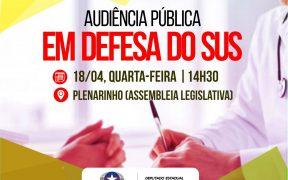 Audiência Pública em defesa do SUS está marcada para esta quarta-feira, 18