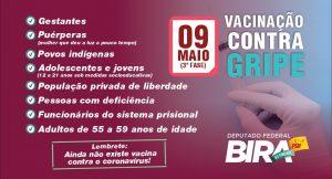 Atenção, Maranhão!3ª fase de vacinação contra a gripe começa neste sábado (09)
