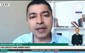 Deputado defende vacina urgente e auxílio emergencial de R$ 600 para a população